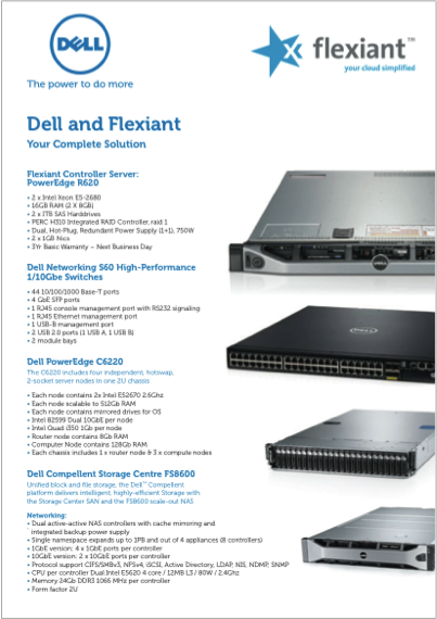 Flexiant and Dell- The Power to do more