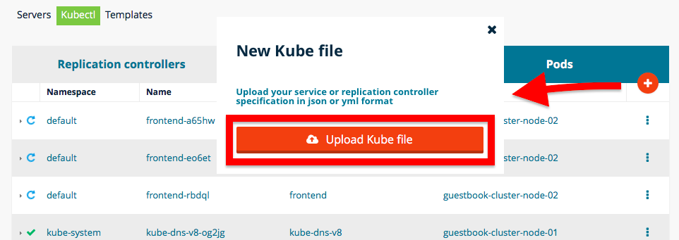 Screenshot of Flexiant Concerto New Kube file